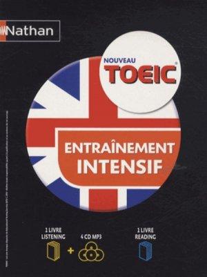 TOEIC INTENSIF LIVRE READING + LISTEN + 4CD  - NATHAN - 9782091629018 -