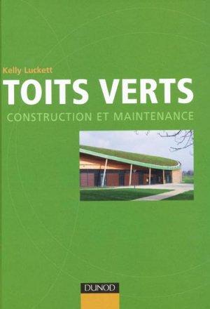 Toits verts - dunod - 9782100546541 -