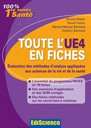 Toute l'UE4 en fiches 1re année Santé - édiscience - 9782100566846 -