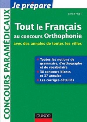 Tout le français au concours Orthophonie - dunod - 9782100574315 -