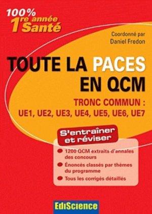 Toute la PACES en QCM - édiscience - 9782100582259 -