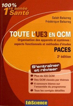 Toute l'UE3 en QCM PACES - édiscience - 9782100582815 -