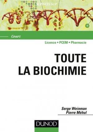 Toute la Biochimie - dunod - 9782100701636