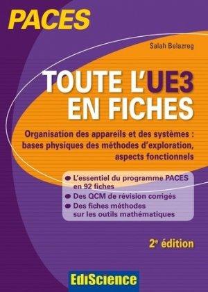 Toute l'UE3 en fiches PACES - édiscience - 9782100727308 -
