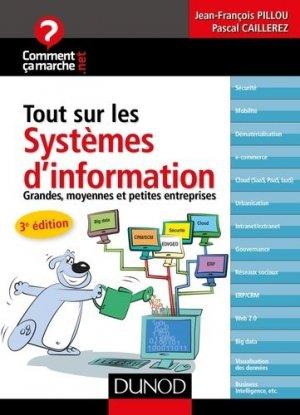 Tout sur les systèmes d'information - dunod - 9782100743841 -