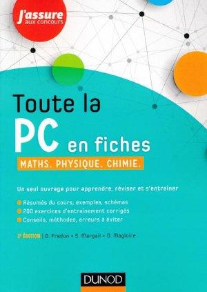 Toute la PC en fiches - Maths, Physique, Chimie - dunod - 9782100748785 -