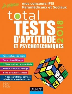 TOTAL Tests d'aptitude et psychotechniques - 2018-dunod-9782100769735