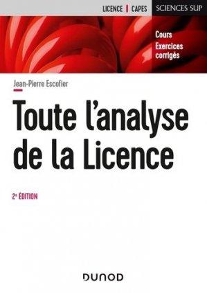 Toute l'analyse de la Licence - Dunod - 9782100811694 -