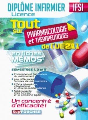 Tout sur Pharmacologie et Thérapeutiques de l'UE 2.11 - foucher - 9782216125227 -