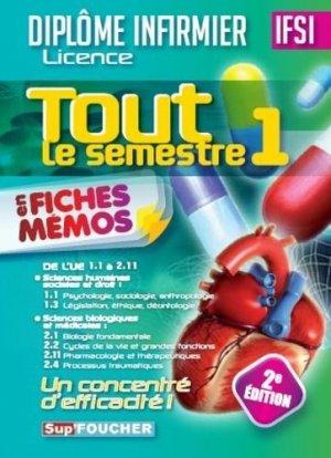 Tout le semestre 1 en fiches mémos - DEI - 2e édition - foucher - 9782216131334 -