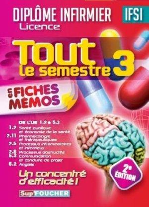 Tout le semestre 3 en fiches mémos - DEI - 2e édition - foucher - 9782216131341