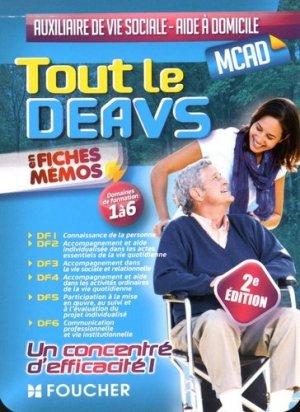 Tout le DEAVS - MCAD en fiches mémos - foucher - 9782216134090 -