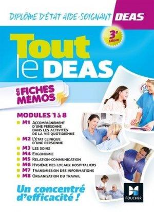 Tout le DEAS en fiches mémos - IFAS - Diplôme Etat Aide-soignant - 3e éd - Révision - foucher - 9782216149858 -