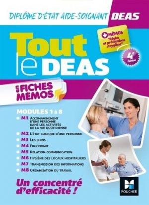 Tout le DEAS en fiches mémos. IFAS Diplôme d'Etat Aide-Soignant. Révision, 4e édition - Foucher - 9782216160280 -