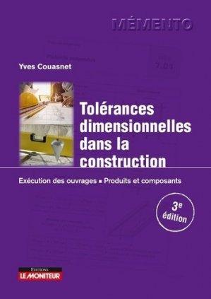 Tolérances dimensionnelles dans la construction - groupe moniteur - 9782281144918 -