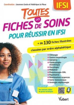 Toutes les fiches de soins pour réussir en IFSI - vuibert - 9782311660616 -