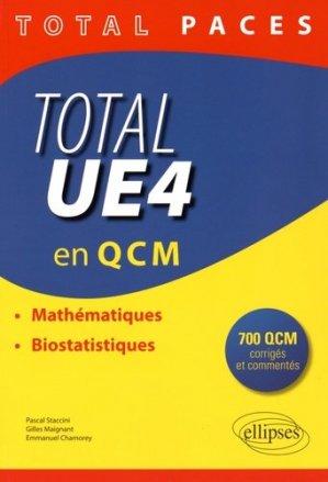 Total UE4 en QCM - ellipses - 9782340009455 - mathématique, biostatistique
