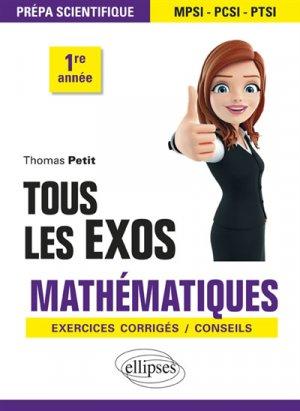 Tous les exos Mathématiques - ellipses - 9782340028685 -