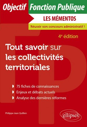 Tout savoir sur les collectivités territoriales - Ellipses - 9782340045668 -