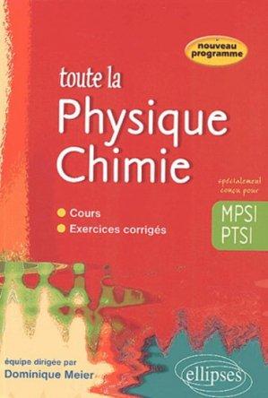 Toute la Physique Chimie MPSI PTSI - ellipses - 9782729816117 -