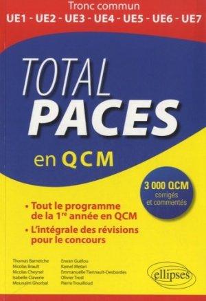 Total PACES en QCM - ellipses - 9782729886851 - mathématique, biostatistique