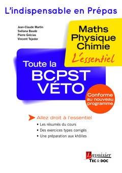 Toute la BCPST-VÉTO 1re année - lavoisier / tec et doc - 9782743020743 -