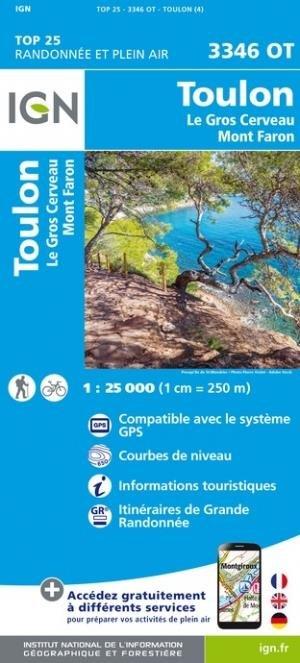 Toulon, Le Gros Cerveau, Mont-Faron - Institut Géographique National - 9782758551515 -