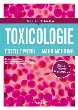 Toxicologie - de boeck superieur - 9782804193935 -