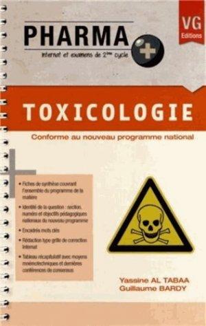 Toxicologie - vernazobres grego - 9782818307052