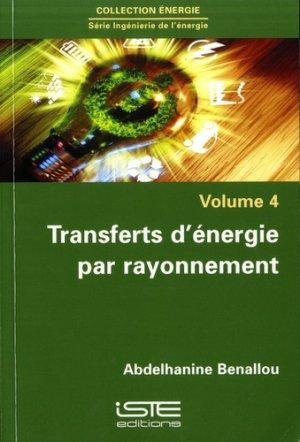 Transferts d'énergie par rayonnement - iste - 9781784053420 -