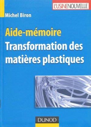 Transformation des matières plastiques - dunod - 9782100530793 -