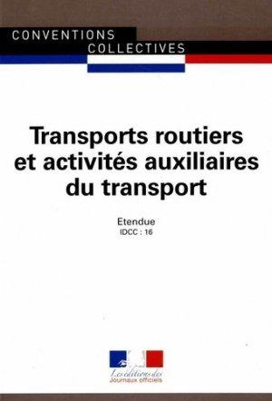 Transports routiers et activités auxiliaires du transport - journaux officiels - 9782110770363 -