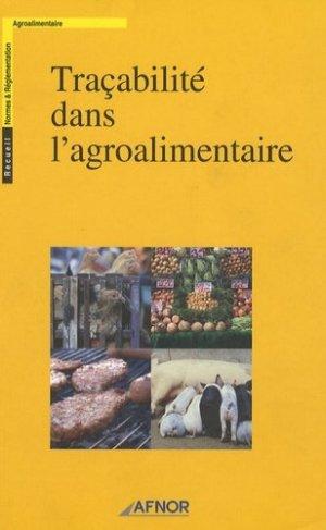 Traçabilité dans l'agroalimentaire - afnor - 9782122363218 -