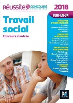 Travail social - Concours d'entrée 2018 - foucher - 9782216145065 -