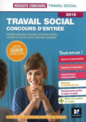 Travail social Concours d'entrée 2019 - foucher - 9782216149698 -