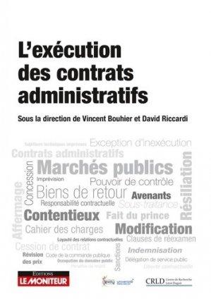 Traité de l'exécution des contrats administratifs - le moniteur - 9782281133059 -