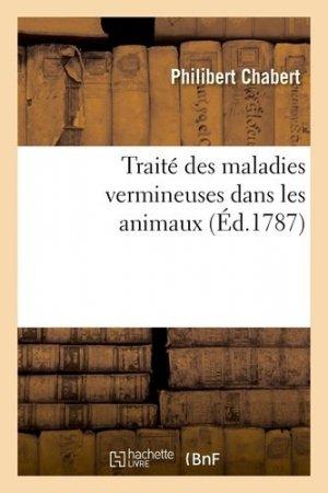 Traité des maladies vermineuses dans les animaux - Hachette/BnF - 9782329412108 -