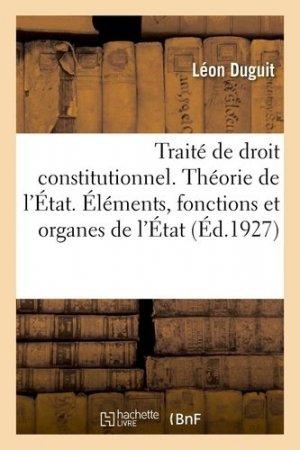 Traité de droit constitutionnel - Hachette/BnF - 9782329581705 -