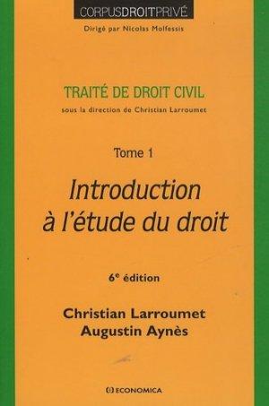 Traité de droit civil. Tome 1, Introduction à l'étude du droit - Economica - 9782717865981 -