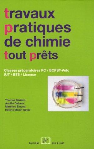 Travaux pratiques de chimie tout prêts - rue d'ulm - 9782728804146 -
