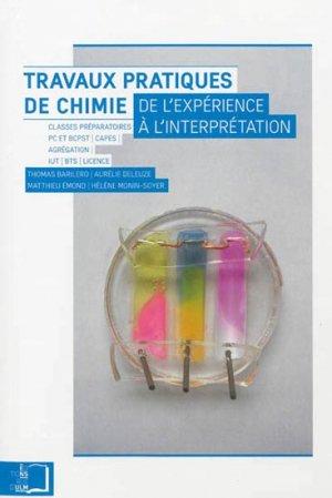 Travaux pratiques de chimie - rue d'ulm - 9782728804917 -