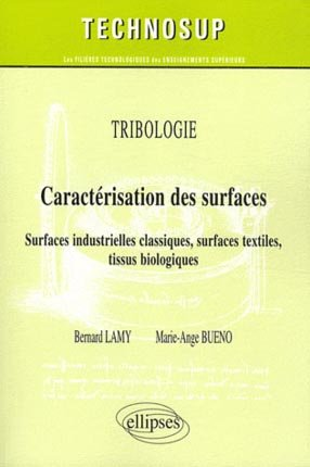 Tribologie - Caractérisation des surfaces - ellipses - 9782729864941 -