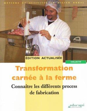 Transformation carnée à la ferme - educagri - 9782844447968 -