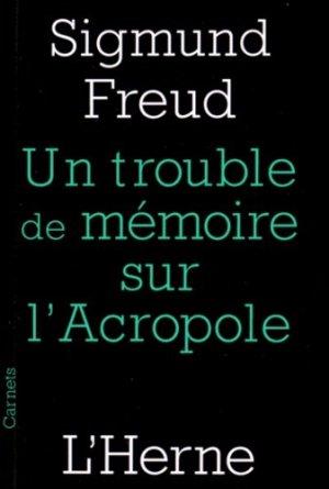 Trouble de mémoire sur l'Acropole suivi de Rêve et télépathie - l'herne - 9782851972903 -