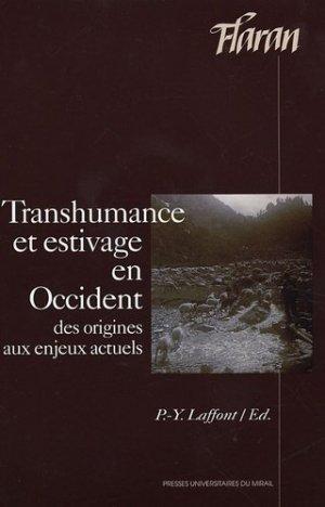 Transhumance et estivage en Occident - presses universitaires du mirail  - 9782858168439 -