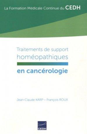 Traitements de support homéopathiques en cancérologie - cedh - 9782915668728 -