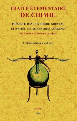 Traité élémentaire de chimie - maxtor éditions - 9791020802026 -