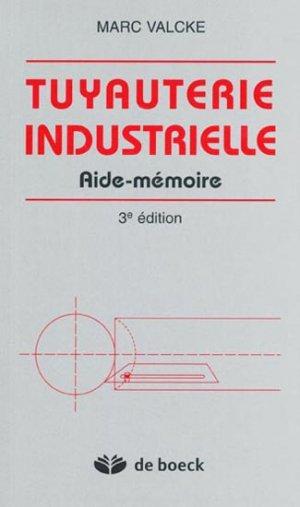 Tuyauterie industrielle - de boeck superieur - 9782804143640 -
