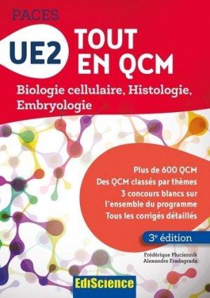 UE2 Tout en QCM - PACES - édiscience - 9782100753581 - livre paces 2020, livre pcem 2020, anatomie paces, réussir la paces, prépa médecine, prépa paces