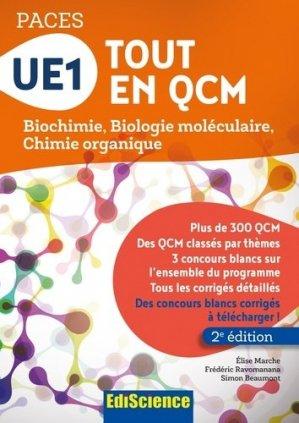 UE1 Tout en QCM - PACES - édiscience - 9782100753598 -